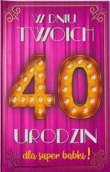Karnet Urodziny 40 damskie 2K - 015