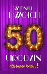 Karnet Urodziny 50 damskie 2K - 016