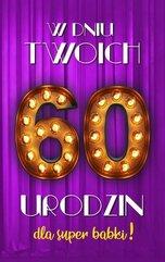 Karnet Urodziny 60 damskie 2K - 017