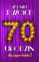 Karnet Urodziny 70 damskie 2K - 018