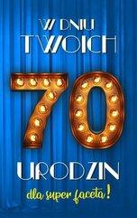 Karnet Urodziny 70 męskie 2K - 024