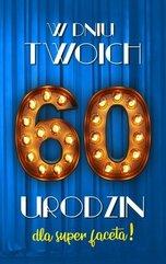 Karnet Urodziny 60 męskie 2K - 023