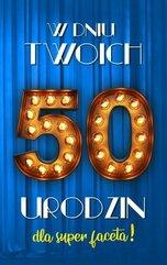 Karnet Urodziny 50 męskie 2K - 022