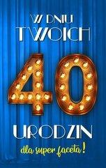 Karnet Urodziny 40 męskie 2K - 021