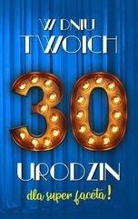 Karnet Urodziny 30 męskie 2K - 020