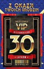 Karnet Urodziny 30 VIP - 03
