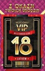 Karnet Urodziny 18 VIP - 02