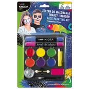 Zestaw do malowania twarzy i włosów 14szt KIDEA