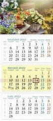 Kalendarz 2022 Trójdzielny Kwiaty KT11