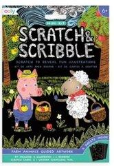 Zdrapywanki Mini Scratch & Scribble Zwierzęta