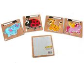Układanka Puzzle drewniane 543614 mix Cena za 1szt