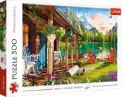 Puzzle 500el Domek w górach 37408 Trefl p8