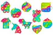 PROMO Brelok antystresowy gniotek POP IT mix kształtów 1005343 cena za 1 szt