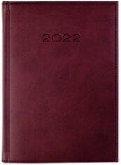 Kalendarz 2022 Dzienny A5 Vivella Bordowy 21D-02