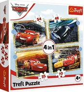 Puzzle 4w1 Do startu, gotowi, start! Cars 3 34608 Trefl p8