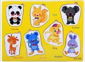 Układanka Puzzle drewniane zwierzątka 543720