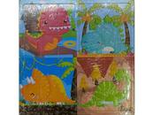 Układanka Puzzle drewniane Dinozaury 543683 mix Cena za 1szt