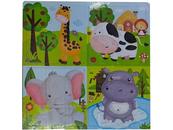 Układanka Puzzle drewniane zwierzątka 543676 mix Cena za 1szt