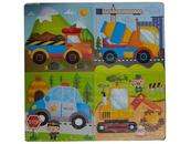 Układanka Puzzle drewniane pojazdy 543669 mix Cena za 1szt
