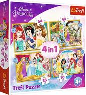 Puzzle 4w1 35,48,54,70el Szczęśliwy dzień. Księżniczki. Princess 34385 Trefl p8