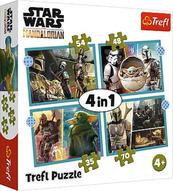 Puzzle 4w1 35,48,54,70el Mandalorian. Star Wars 34397 Trefl p8