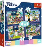 Puzzle 4w1 35,48,54,70el Trefliki przed snem Dobranoc, Trefliki na noc 34399 Trefl p8