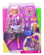 Barbie Lalka EXTRA MODA + akcesoria 8 GYJ77 GRN27 MATTEL