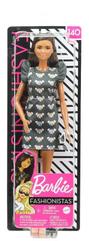 Barbie Lalka Fashionistas 140 Modna przyjaciółka Sukienka w myszki GYB01 FBR37 MATTEL p4