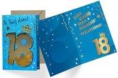 Karnet B6 konfetti KNF-033 Urodziny 18 męskie