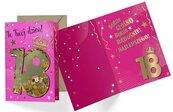 Karnet B6 konfetti KNF-032 Urodziny 18 damskie