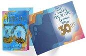 Karnet B6 konfetti KNF-035 Urodziny 30 męskie