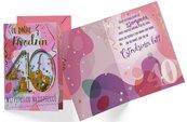 Karnet B6 konfetti KNF-036 Urodziny 40 damskie