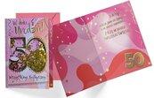 Karnet B6 konfetti KNF-038 Urodziny 50 damskie