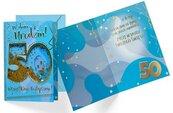 Karnet B6 konfetti KNF-039 Urodziny 50 męskie