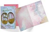 Karnet B6 konfetti KNF-040 Urodziny 60 damskie