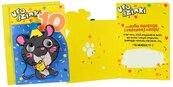 Karnet B6 DK-805 Urodziny 10 szczurek