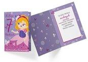 Karnet PR-329 Urodziny 7 dziewczynka