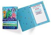 Karnet PR-332 Urodziny 8 chłopiec