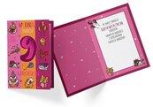 Karnet PR-333 Urodziny 9 dziewczynka