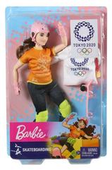 Barbie Lalka Olimpijka Skateboarding GJL78 MATTEL