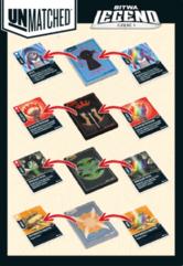 Unmatched Bitwa Legend - karty (dodatek do gry)