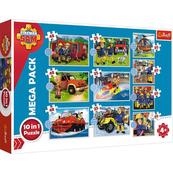 Puzzle 10w1 Strażak Sam. Poznaj ekipę ratunkową Strażaka Sama 90382 Trefl