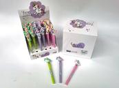 Długopis świecący z jednorożcem i płynnym brokatem 548787 p36 mix Cena za 1szt