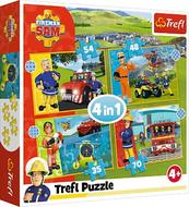 Puzzle 4w1 Odważny Strażak Sam 34387 Trefl
