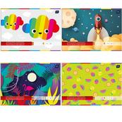 Zeszyt papier kolor samoprzylepny B4 p10 INTERDRUK cena za 1szt