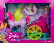 Barbie Dreamtopia Lalka rydwan + pegaz GJK53 MATTEL