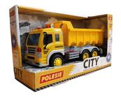 """Polesie 86204 """"City"""" samochód - wywrotka inercyjny żółty (ze światłem i dźwiękiem) w pudełku"""