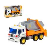"""Polesie 86228 """"City"""" samochód inercyjny do przewozu kontenerów pomarańczowy (ze światłem i dźwiękiem) w pudełku"""