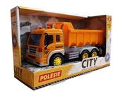 """Polesie 86235 """"City"""" samochód - wywrotka inercyjny pomarańczowy (ze światłem i dźwiękiem) w pudełku"""