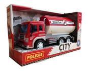 """Polesie 86372 """"City"""" samochód z cysterną, inercyjny czerwony (ze światłem i dźwiękiem) w pudełku"""